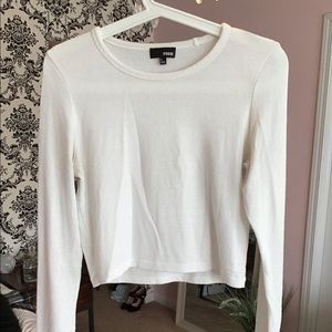 Wilfred long sleeve cropped top
